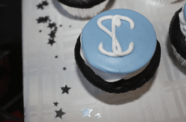 Single Cupcake with Sood Center Logo Decorative Frosting