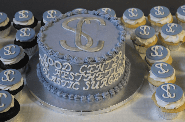 Opening Event Cake with Sood Center Name in Icing
