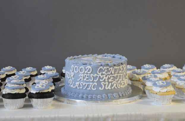 Cake and Cupcakes Decorate with Sood Center Logo