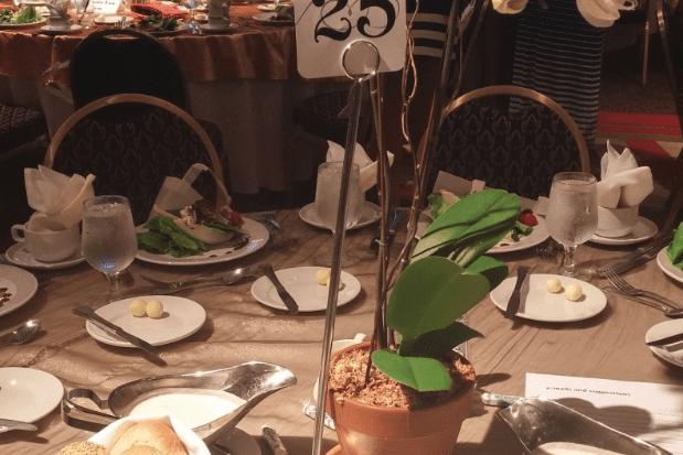 Table and Silverware at AC Women's Forum of 2015