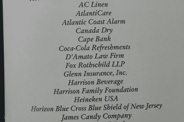 Sponsor List at AC Women's Forum of 2015