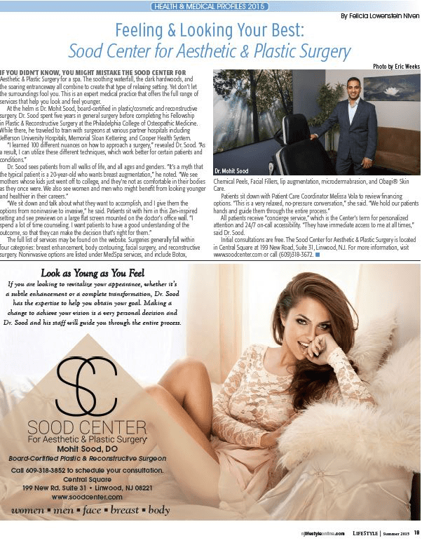 The Sood Center's 2015 Feature in LifeStyle Magazine